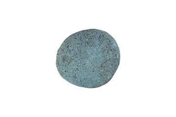 Cian gray natural stone/ Cian gray natural river stone isolated on white background