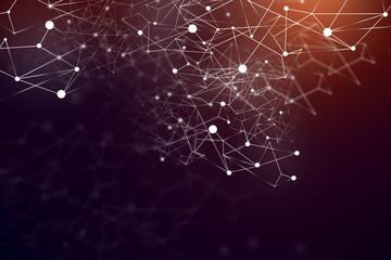 Fotobehang - Red network interface