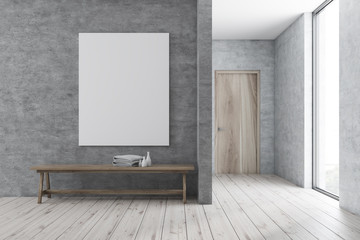 Bench in modern bathroom, poster