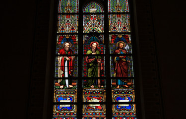 Canvas Prints Stained Kloster Malchow, Kirchenfenster