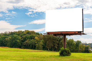 Giant Blank Billboard in Autumn Setting With Copy Space Wall mural