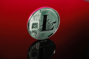 Crypto money crypto currency cryptocurrency coin stock photo litecoin bitcoin