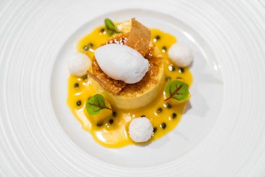 Passionfruit cream brulee