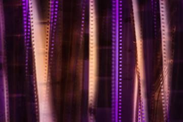 Blurred texture background - Analog film strip.