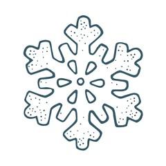 Snowflake. Vector vintage color engraving illustration.