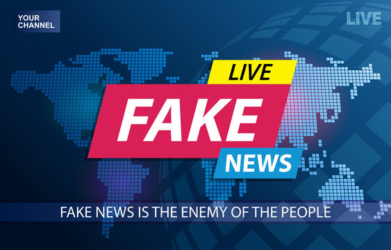 Fake News Live Broadcasting Television Screen Background