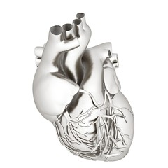 Metall heart. 3d render