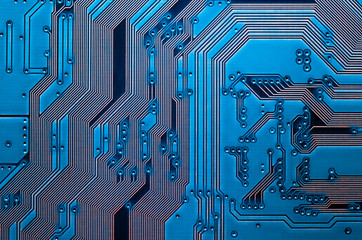 Electronic circuit board close up background texture
