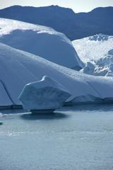 Eisberge, wohin man schaut