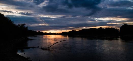 Beautiful sunset near Stephansposching - Danube - Bavaria - Germany