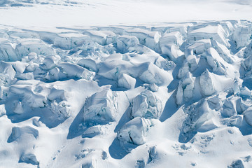 Beautiful Snow on ground close up Fox Glacier New Zealand natural landscape