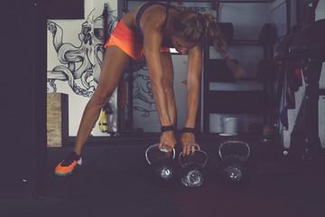 Exercising cardio training at the gym
