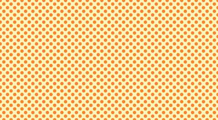 polka dot pattern background in orange and yellow classic retro wallpaper design