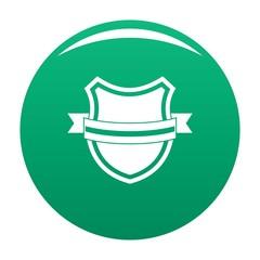 Badge retro icon. Simple illustration of badge retro vector icon for any design green