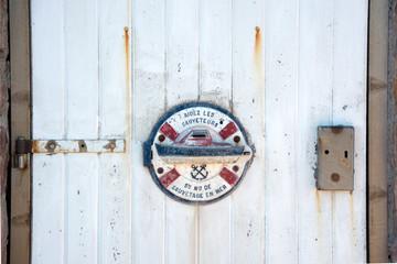 La porta del faro in Bretagna, Francia