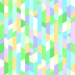 Seamless bright pattern. Multicolored mosaic background. Geometric wallpaper of the surface. Print for polygraphy, t-shirts and textiles. Tiled texture. Doodle for design and work