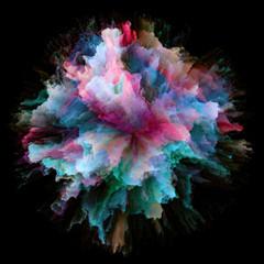 Computing Colorful Paint Splash Explosion