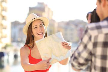 Tourists taking photos on vacation