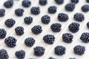Pattern made from fresh blackberries