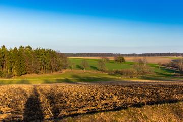 Autumn rural landscape in South Czechia