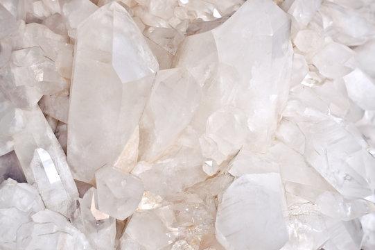 quartz crystals background