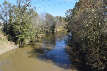 Upstream on the Yocona River in Mississippi