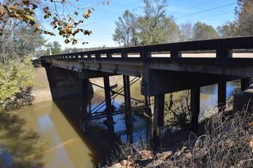 Yocona River bridge in Lafayette County Mississippi