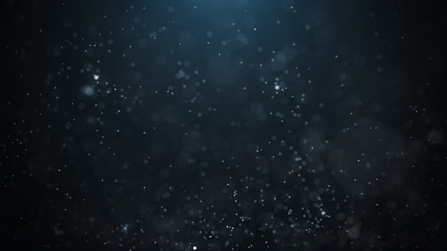 Dust particles. Abstract particle background. Dots background. 4k rendering.