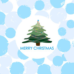 Christmas and New Year Card. Vector illustration