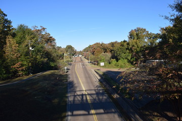 Jackson Avenue on a fall morning in Oxford Mississippi
