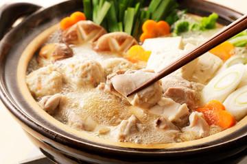 鶏の寄せ鍋 Japanese chicken hot pot
