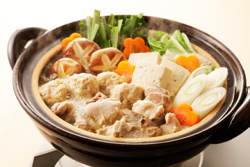 鶏の寄せ鍋 Japanese chicken hot pot