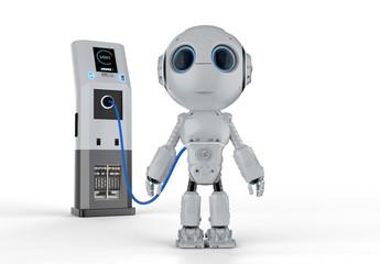 robot at charging station
