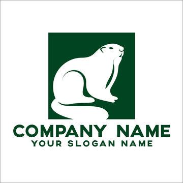Face rodent logo concept