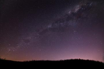 Milkyway over Papamoa beach New Zealand