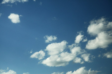 Cloud in bule sky for background and sky scape