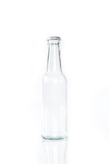 bottle glass on white background.