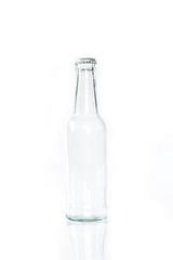 bottle glass on white background.