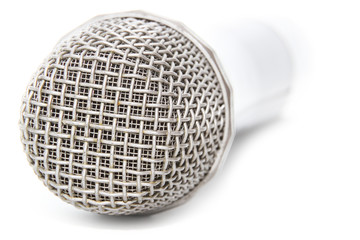 A wireless microphone isolated on a white background with clipping path.