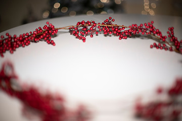 Christmas decoration with berries
