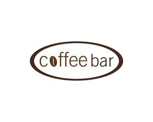 coffee bar logo vector icon illustration design