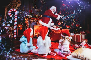 children with santa claus