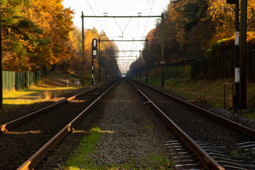 Dutch Railroad in Autumn 04