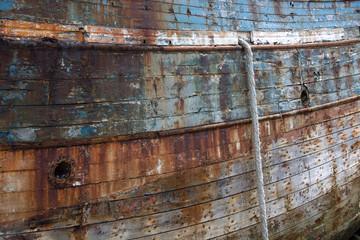 Vecchia nave abbandonata, relitto