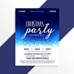 beautiful christmas party celebration flyer design