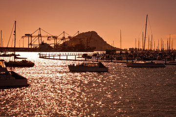 Sunset at Mount Maunganui in New Zealand