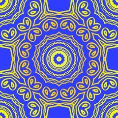 Design for square fashion print. For pocket, shawl, textile, bandanna. Seamless floral pattern. Vector illustration.