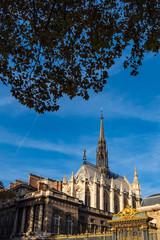 Blick auf den Justizpalast in Paris, Frankreich
