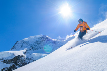Freerider in der Gletscherregion an der Monte Rosa