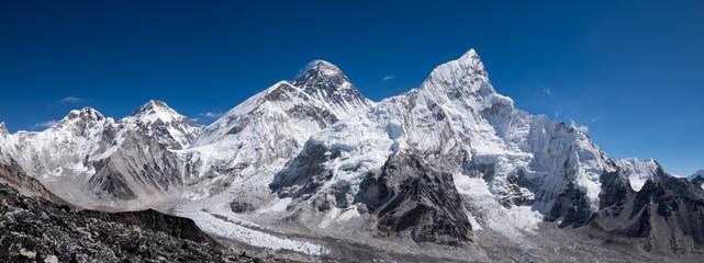 Fototapeta Everest and Kumbu Icefall panorama obraz